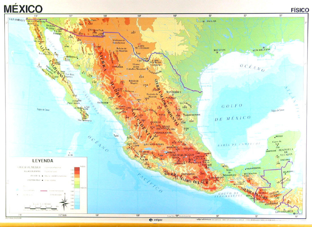 Mapa Físico de México