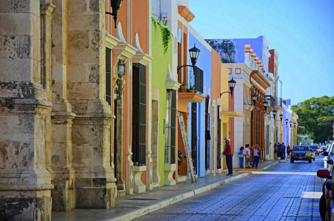 Casas coloniales de la ciudad de Campeche