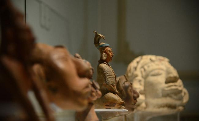 Esculturas mayas del yacimiento de Jaina