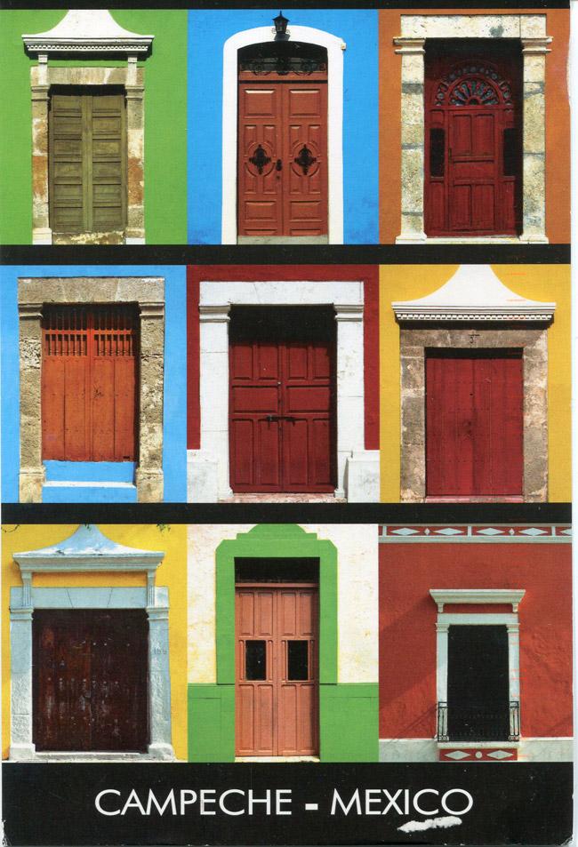 Puertas de colores en Campeche