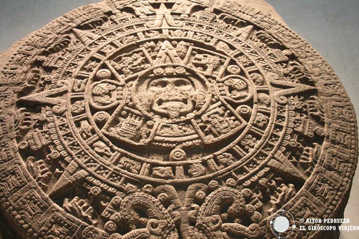 Disco solar en el Museo Antropológico de DF