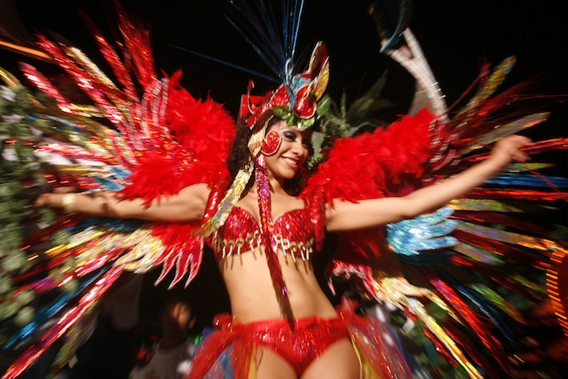 Trajes vistosos del Carnaval