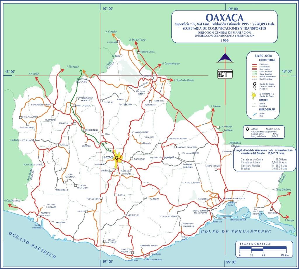 Mapa estado Oaxaca