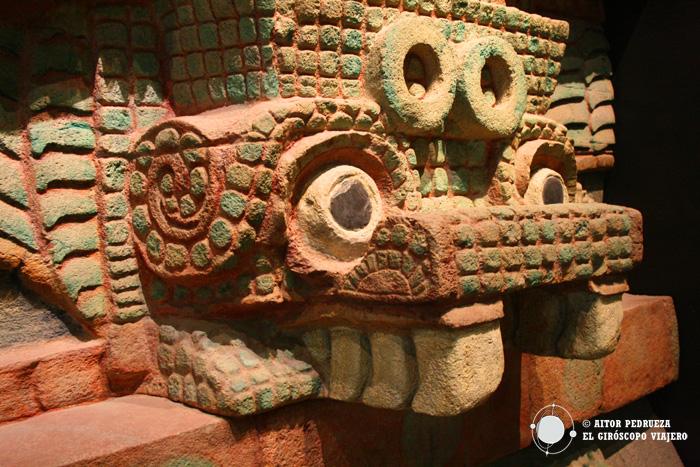 Mascarón en el Museo Nacional de Antropología de Ciudad de México