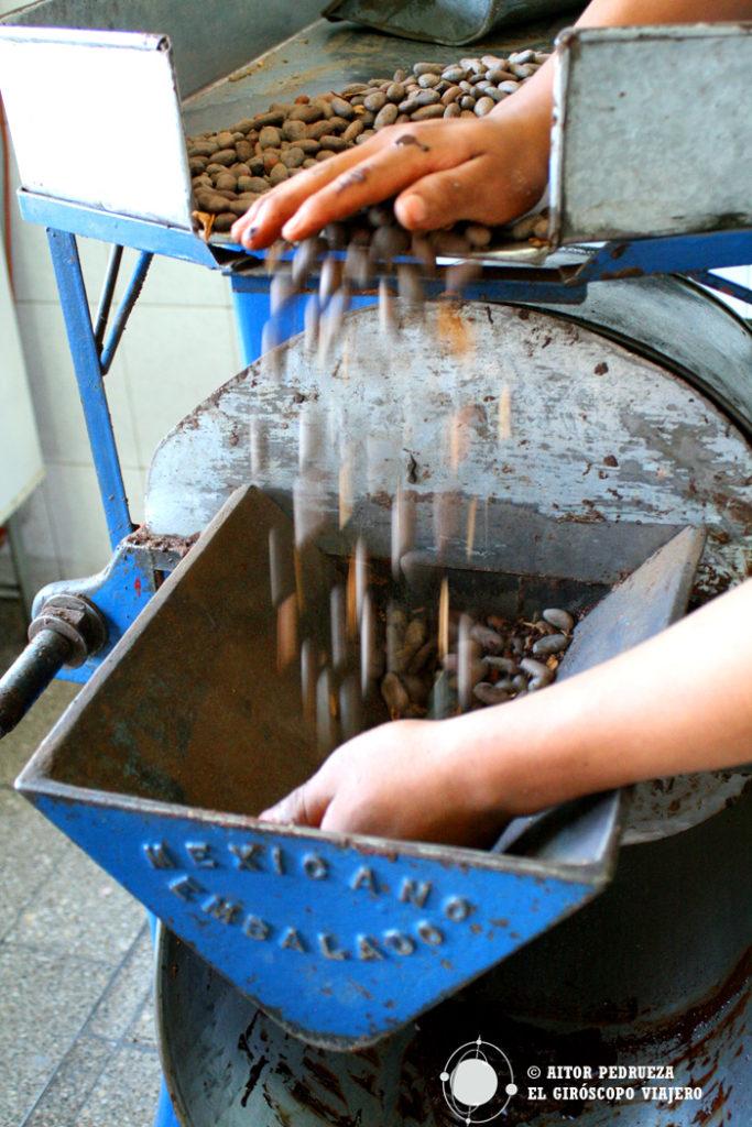 Fabricación del chocolate de Oaxaca