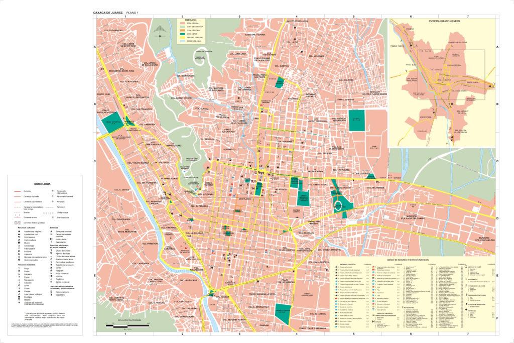 Mapa del centro de Oaxaca Juarez