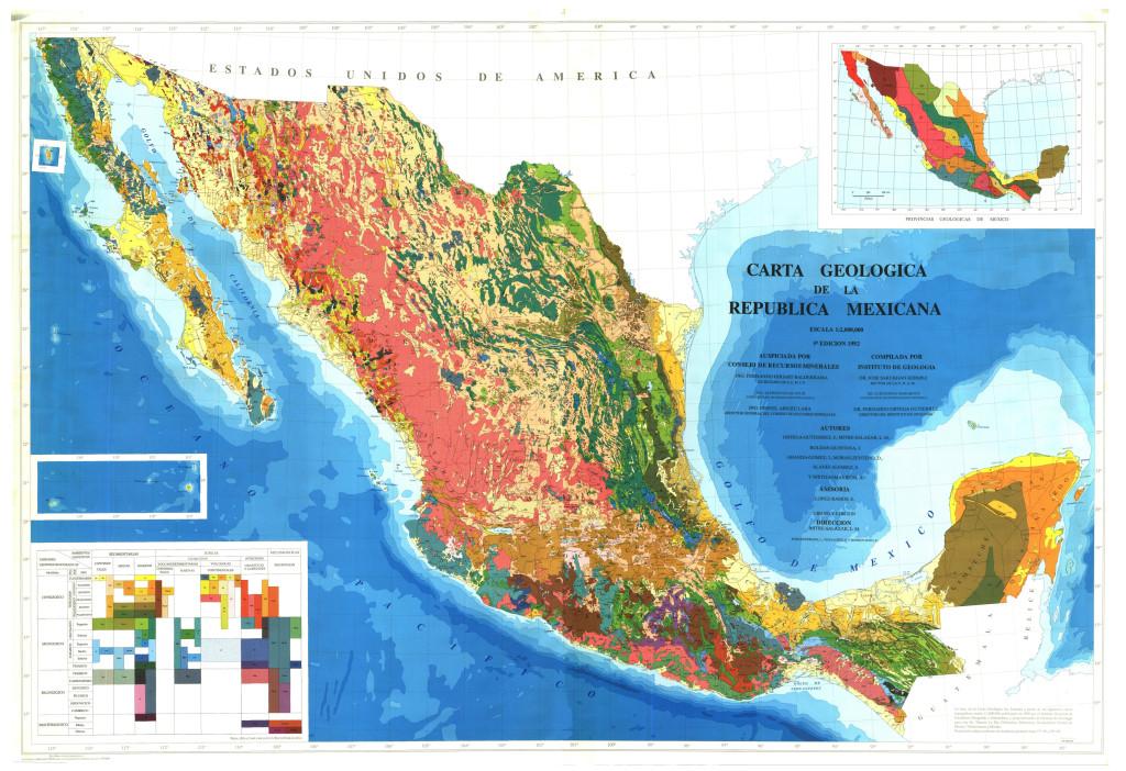 Mapa geológico de México