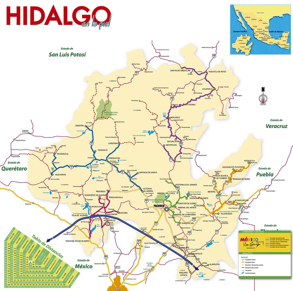 Mapa del Estado de Hidalgo