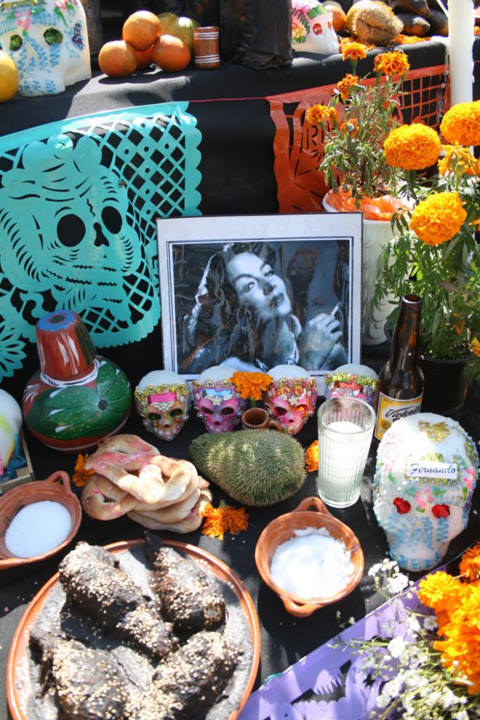 Ofrendas del día de muertos en Metepec