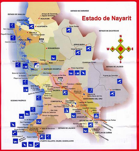 Mapa del Estado de NayaritMapa del Estado de Nayarit