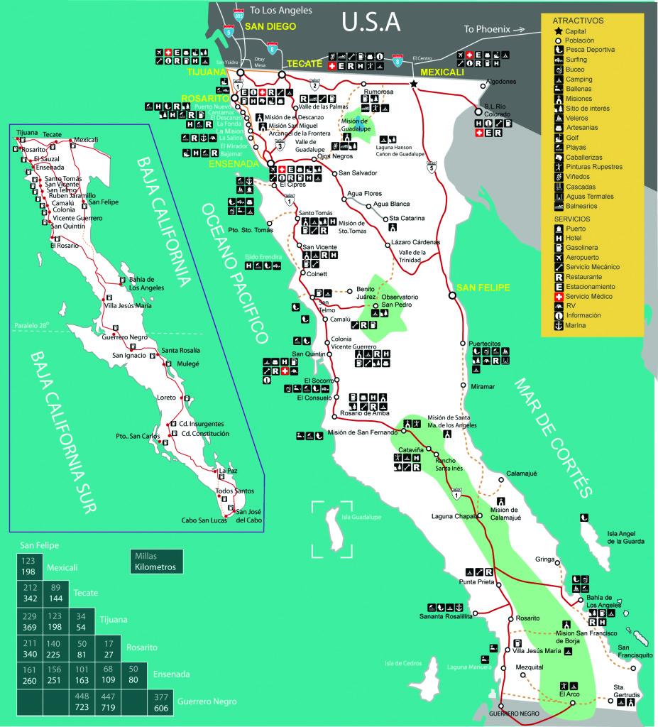 Mapa de Baja California Norte