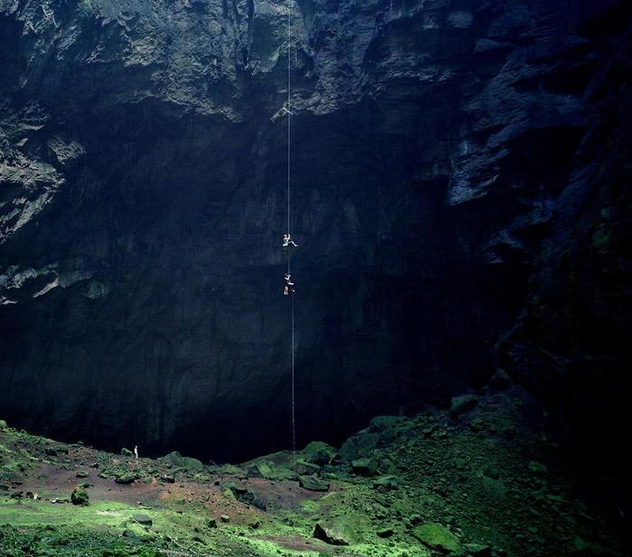 El interior del Sótano de las Golondrinas