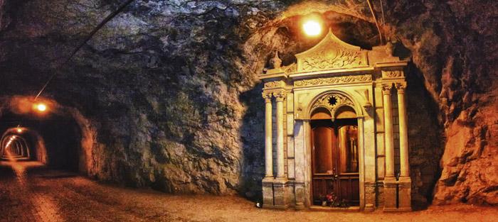 Túnel de Ogarrio por el que se accede a Real de Catorce
