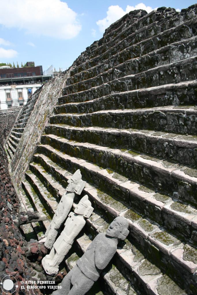 Templo Mayor en los aledaños del Zócalo