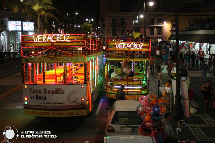 Tranvías típicos de Veracruz