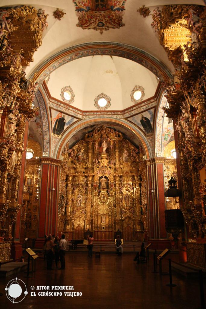 El retablo de la Iglesia de San Francisco Javier