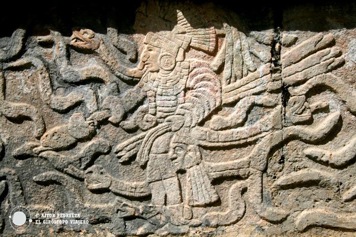Detalle de los templos en Chichén Itzá