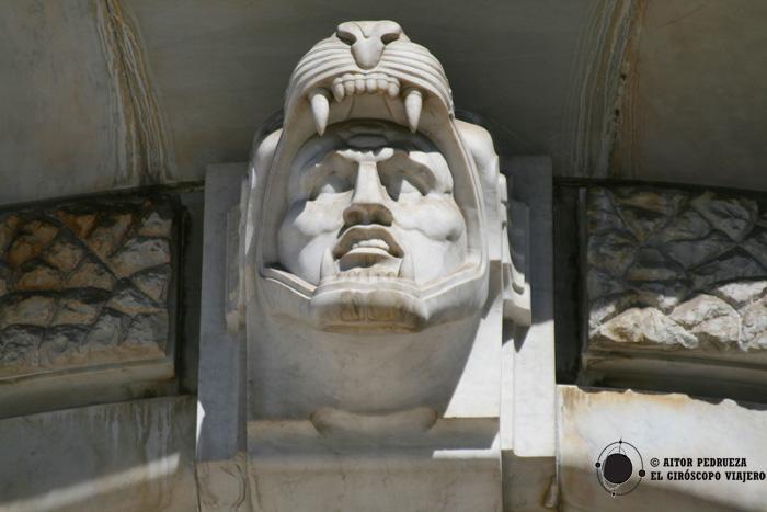 Detalle en la fachada del Palacio de Bellas Artes