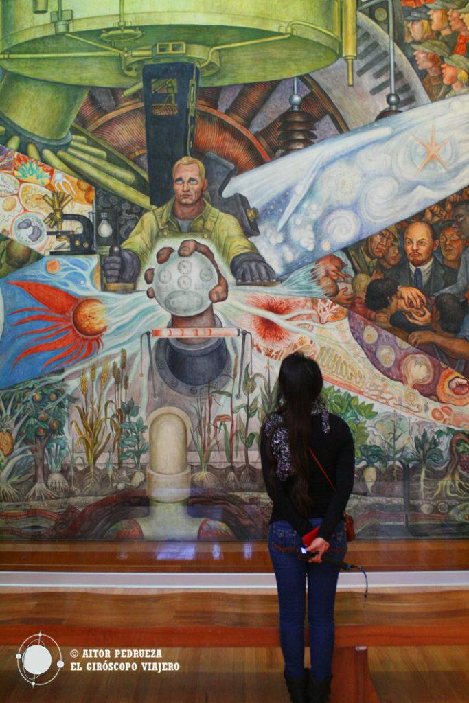 El hombre controlador del universo. Mural de Diego Rivera