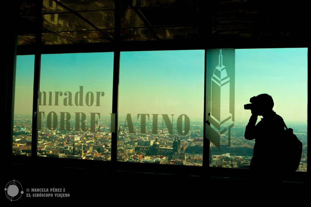 Puntos fotográficos sobran desde el mirador de la Torre Latinoamericana