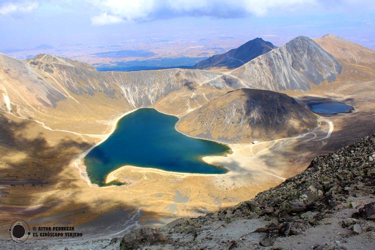 Vista de la Laguna del Sol del Nevado de Toluca