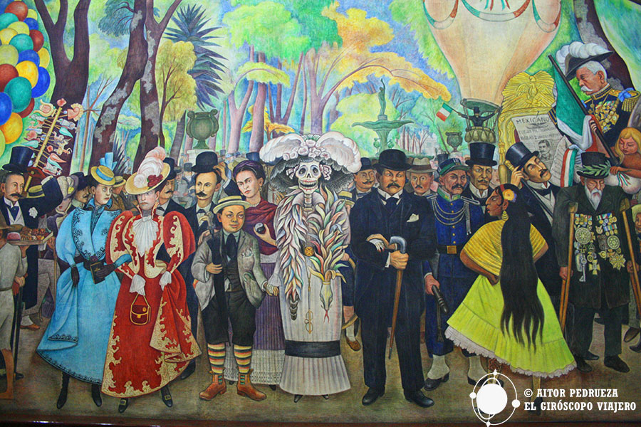 Parte central del mural Sueño de una tarde dominical en la Alameda Central