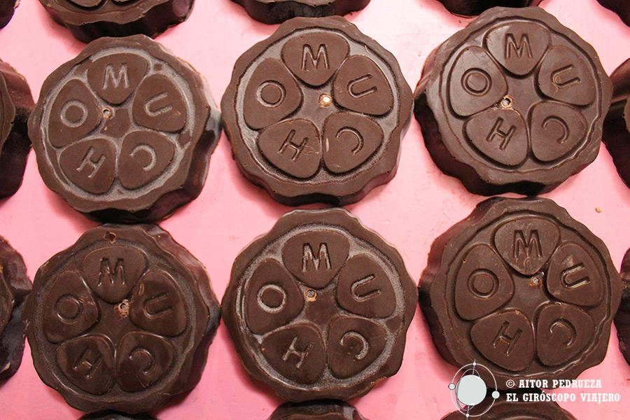 """Sala de las """"esencias"""" en el Museo del Chocolate de Ciudad de México"""