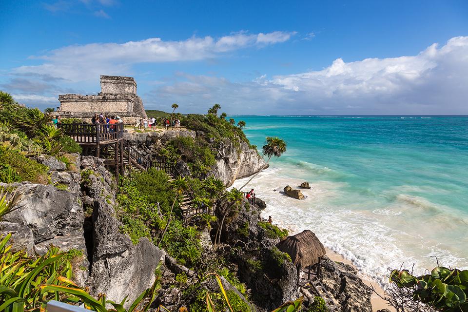 Ruinas de Tulum,. Viaje en grupo organizado a México.