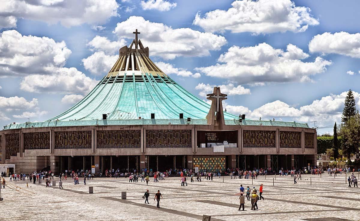 Vista de la basílica de la Virgen de Guadalupe