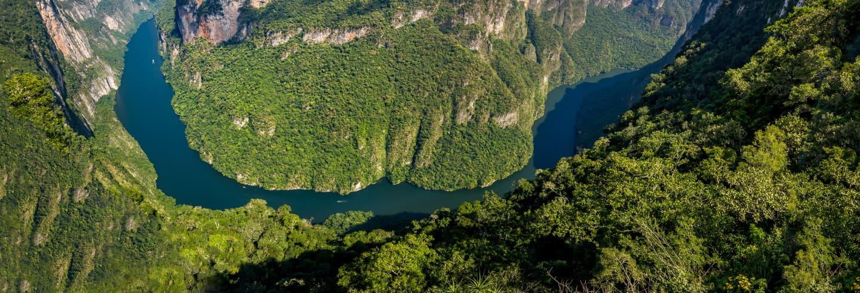 Cañón del Sumidero desde lo alto