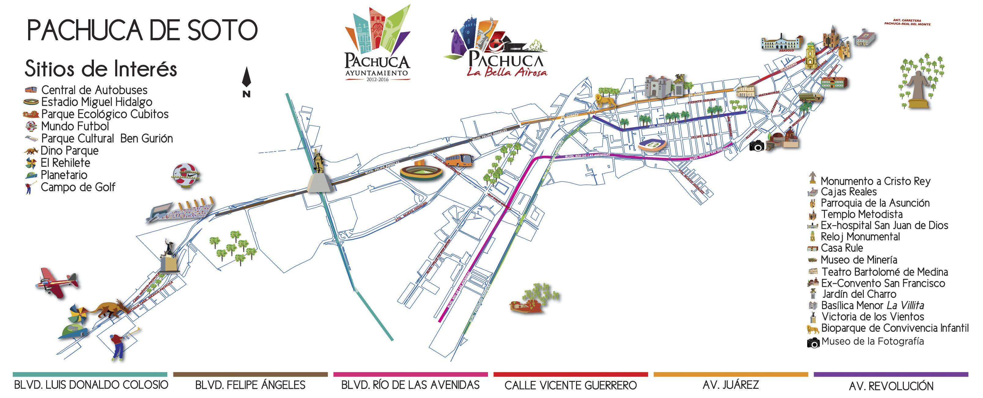 Mapa Turístico de Pachuca