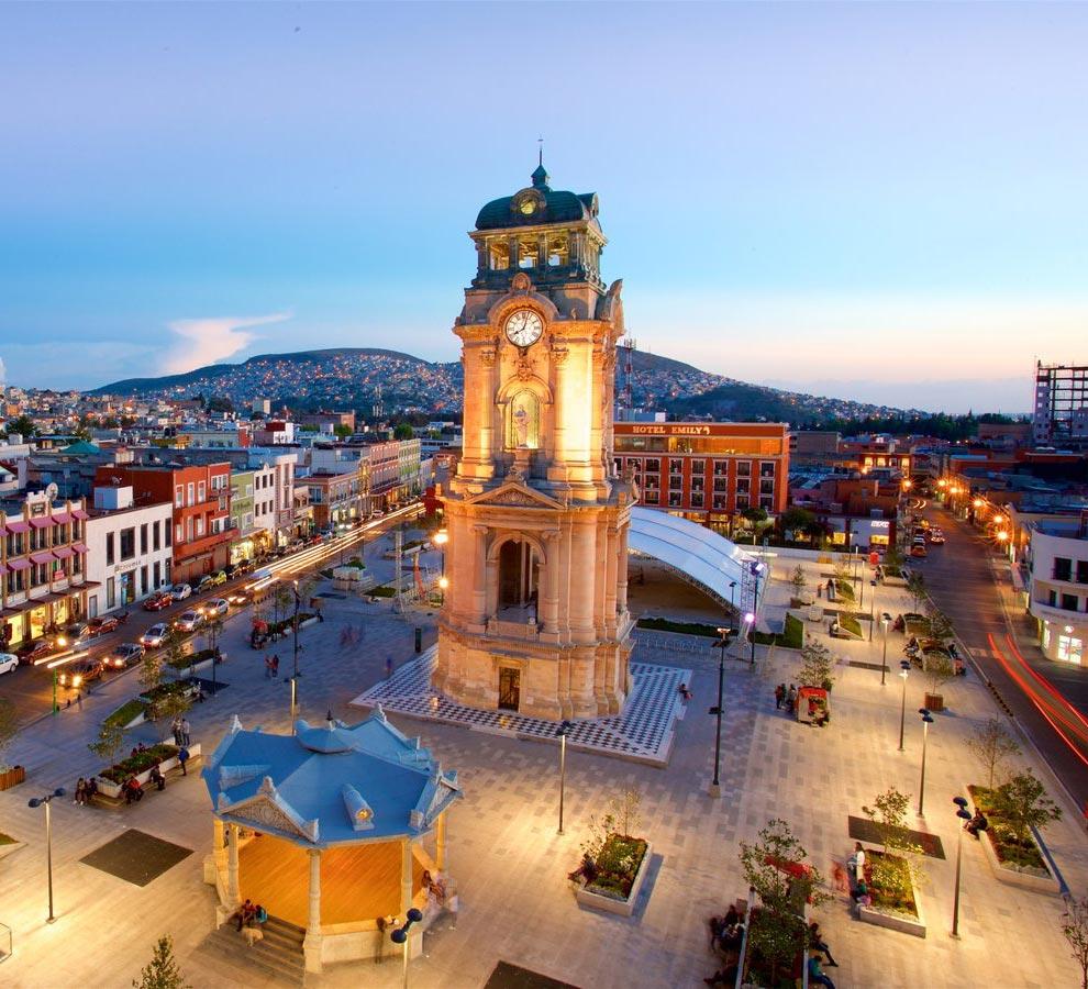 El célebre reloj de Pachuca